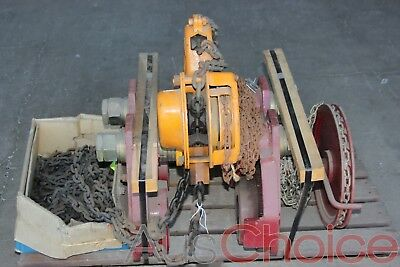 PWB Anchor Ball Bearing Grinder Trolley w 10 Tonne Chain Hoist Block