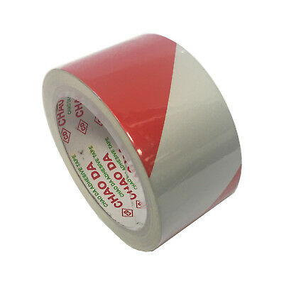 Brutus REFLECTIVE ADHESIVE SAFETY TAPE 50mmx10m Bold Markings RED/WHITE