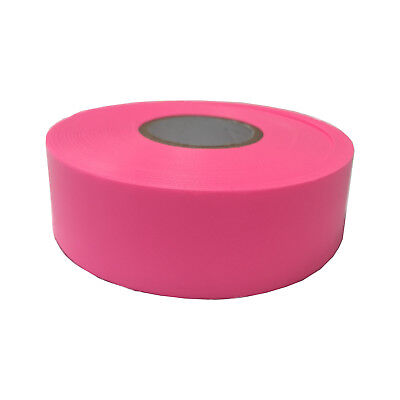 2x Brutus FLAGGING TAPE 25mmx100m Highly Visible, Weather Resistant PINK