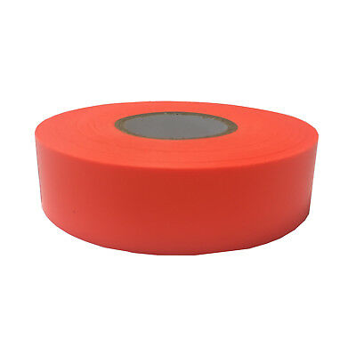 2x Brutus FLAGGING TAPE 25mmx100m Highly Visible, Weather Resistant ORANGE