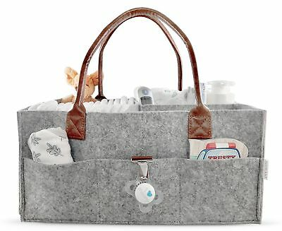 Baby Diaper Caddy Large Portable Car Travel Organizer Nursery Tote Bag Storage