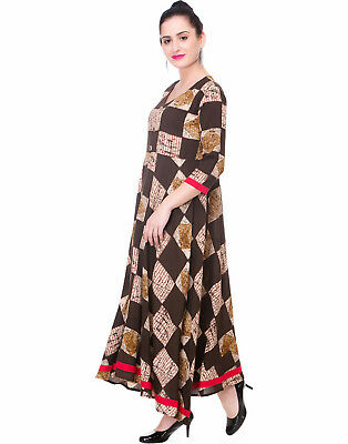 Indian Bollywood Abstract Designer Kurta Women Casual Wear  Kurti Top Tunic