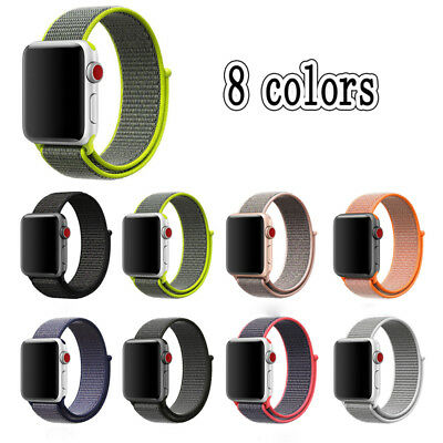 Nylon Woven Sport Loop Bracelet Watch Band Strap For Apple Watch 38mm 42mm UP
