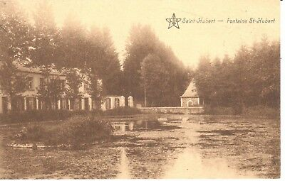 carte postale - Saint-Hubert - CPA - Fontaine St-Hubert