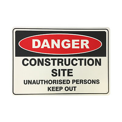 Brutus CONSTRUCTION SITE SAFETY SIGN 450x300mm Withstand Harsh Outdoor Climate