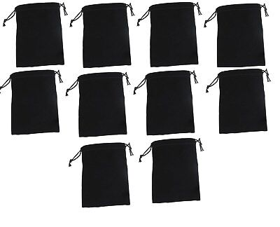 10x Black Velvet Drawstring Jewelry Storage Safety Case Gift Bags Pouches