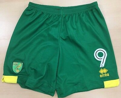 Official Norwich City Fc Player Worn Shorts 2017-18
