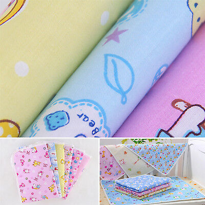 Waterproof Changing Diaper Pad Cotton Washable Baby Infant Urine Mat Nappy Bed W