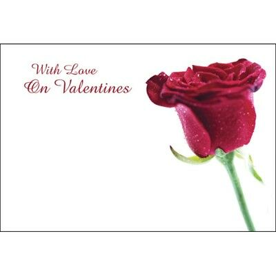 Valentine Florist Message Cards - With Love On Valentines  x 50