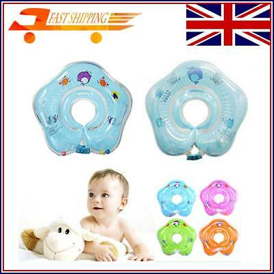 Baby Swimming Neck Float Inflatable Ring Adjustable Safety Aids 1-24 Months UK