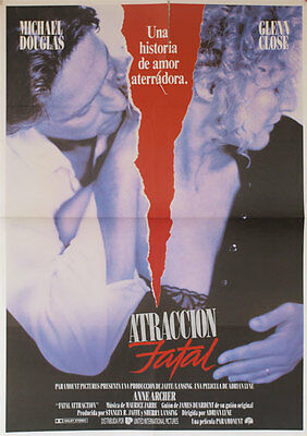 Atraccion fatal -- Cartel de Cine Original --