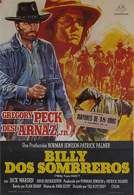 Billy dos sombreros  -- Cartel de Cine Original --