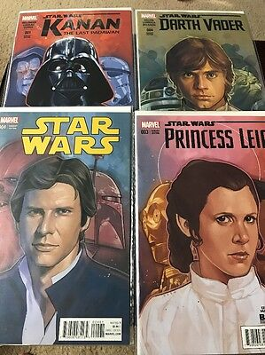 Marvel Comic Star Wars Variant Editions Phil Noto Collection Set Of 4 Comics