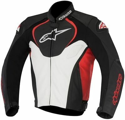 Alpinestars Jaws Black White Red Leather Motorcycle Jacket NEW RRP £439.99!!
