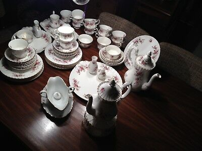 Royal Albert Bone China Lavender Rose Kaffeegedeck KOMPLETT! TOP ZUSTAND