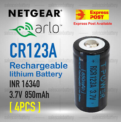 Netgear Arlo Camera Rechargeable Battery CR123a RCR123a 16340 3.7v 700mAh arlo