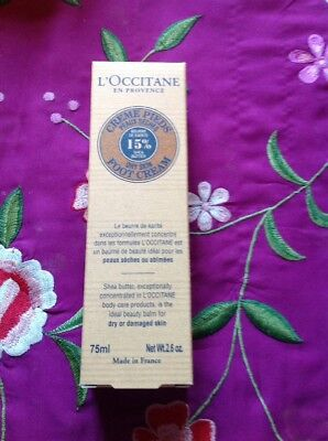 L'OCCITANE EN PROVENCE 15% Shea Butter Foot Cream 75ml * Special Offer *