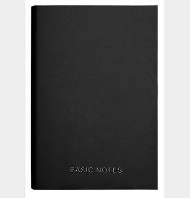 A7 Quality Black Basic Notebook Diary JOURNAL