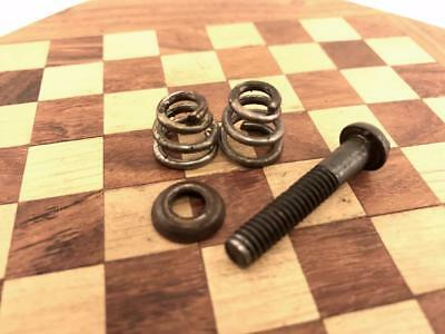 Motor Mounting Screw / 2 Springs / Washer for Edison Phonograph, Original Parts