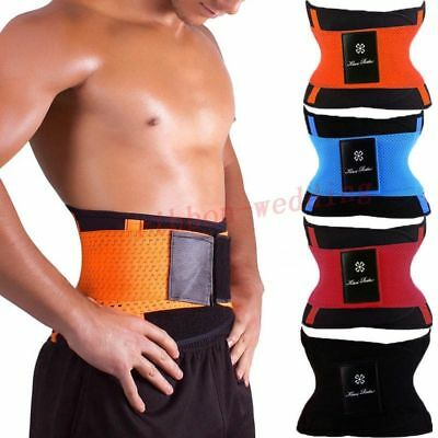 Hot Sauna Slimming Belt Waist Wrap Shaper Burn Fat Calorie Belly Loose Weight Uk