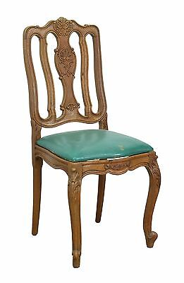5503032-4 : Set of 6 Antique French Provincial Country Carved Oak Side Chairs