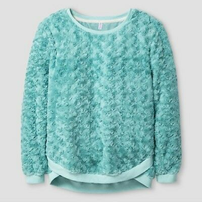 Xhilaration Girls' Faux Fur Pullover Top - NWT - Choose size and color