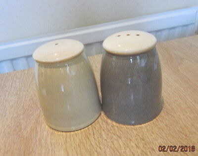 Denby Fire  Salt And Pepper Cruet Set With Stoppers