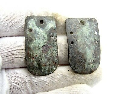 Roman Bronze Legionary Armour Plates - Ancient Artifact Rare Lovely - Q807
