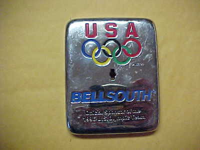 Bell South Heavy Steel Utility Box Plate - 1996 U.s.a. 0Lympics