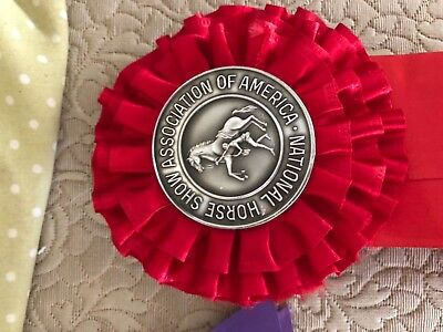 NATIONAL horse show ribbon medal 1966