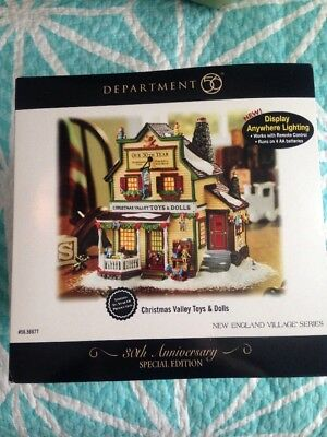 "Dept. 56 Christmas ""Valley Toys and Dolls"" New England Village Series- Spec. ED"