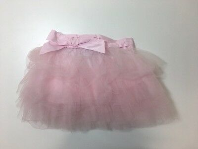 Girls 3-4 Next Baby Pink Tiered Netted Skirt Bow Detail - Excellent Condition