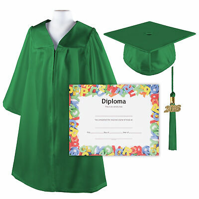 Kindergrad Shiny Kindergarten Graduation Cap and Gown with Matching 2018 Tassel