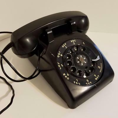 vintage black rotary dial telephone old heavy retro phone Western Electric