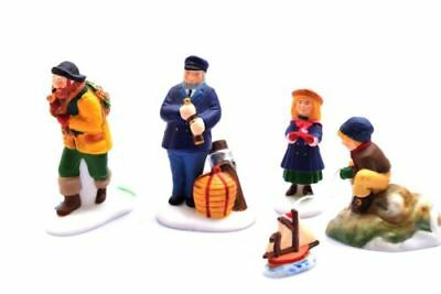 "Dept 56 New England Village ""Seacaptain & His Mates"". 2 pc. Never used. #56587"