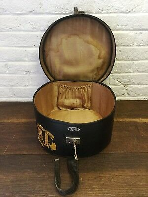 Vintage Hat Box Cutie Brand Early 20C Steamer Travel Storage British India Line