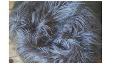 """Faux Fur Charcoal 18""""x20"""" photo Prop very soft Blanket Newborn Photography!!"""