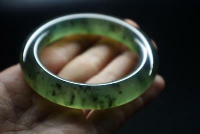 Collection Vintage Chinese antique old natural jade hand carved jade bangle A805