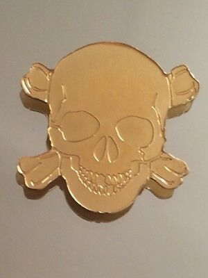 Golden Pirate Skull 2017 Palau Special Shaped 1/2 Gram 9999 Pure Gold Coin