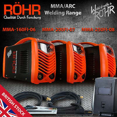 MMA ARC Welder Inverter - ROHR Portable Welding Machine + Mask (160 200 250-FI)