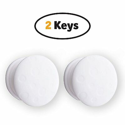 Magnetic Cabinet Lock Replacement Keys - Set of 2 Universal Keys