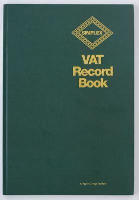Simplex VAT record book accounts tax finance accounting ledger small business A4
