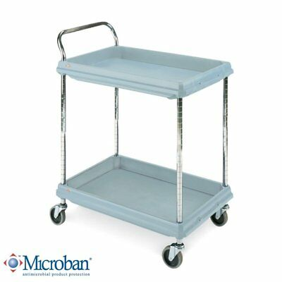 Metro Deep Ledge Series Antimicrobial Polymer Utility Cart with 4 Swivel 2 400 x