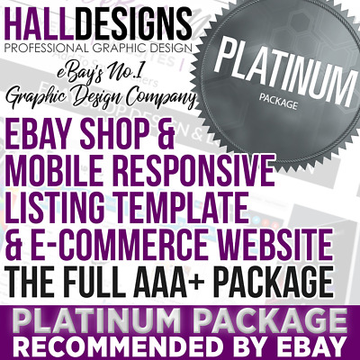 E-Commerce Website, eBay Shop & Logo & Listing Template Design Package