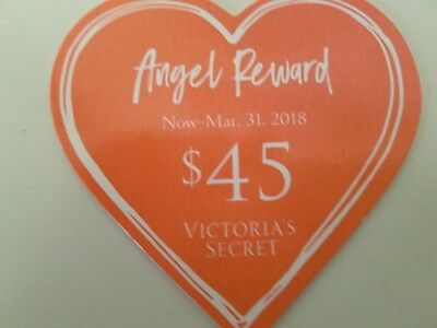 $45 Victoria Secret Angel Reward Card, $90 when used online & store exp 3/31/18