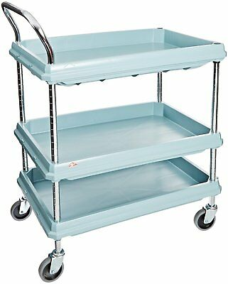 Metro Deep Ledge Series Antimicrobial Polymer Utility Cart with 4 Swivel 3 400 x