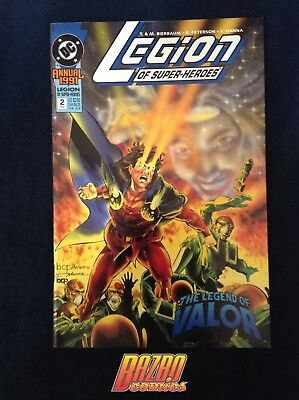 The New Legion of Super Heroes Annual #2 1st Print 1991 DC Comics