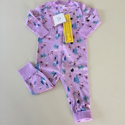 "HANNA ANDERSSON ADORABLE Baby Girl ""SKATING"" Pajama.12-18 months 75 cm NEW!!"