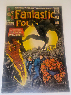 """Fantastic Four #52 1966 VG+ 4.5 First Appearance of """"The Black Panther"""""""