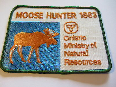 "Stoffabzeichen Ontario Ministry of Natural Resources ""Moose Hunter 1983"""